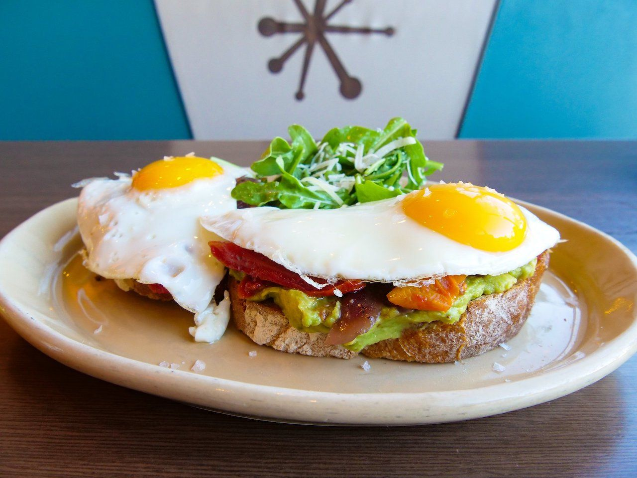 Avocado toast with eggs from Snooze in Denver, Colorado