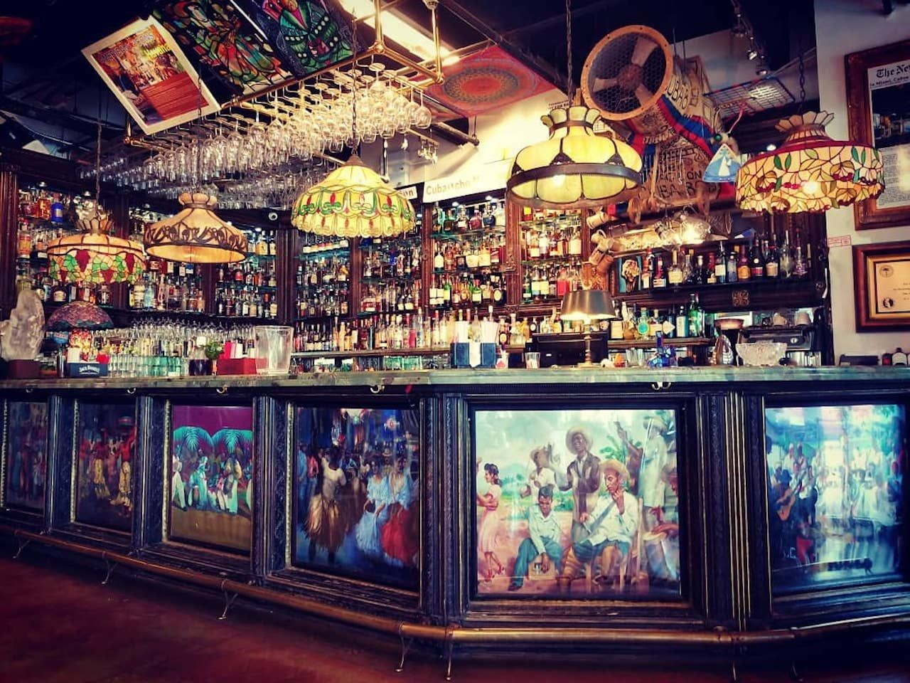 Bar at Cubaocho Museum in Miami, Florida