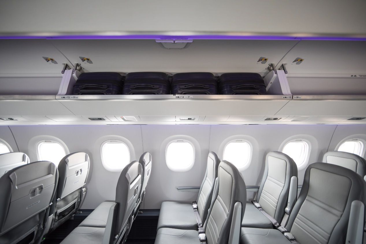 Bigger overhead bins in Embraer's E2 aircraft