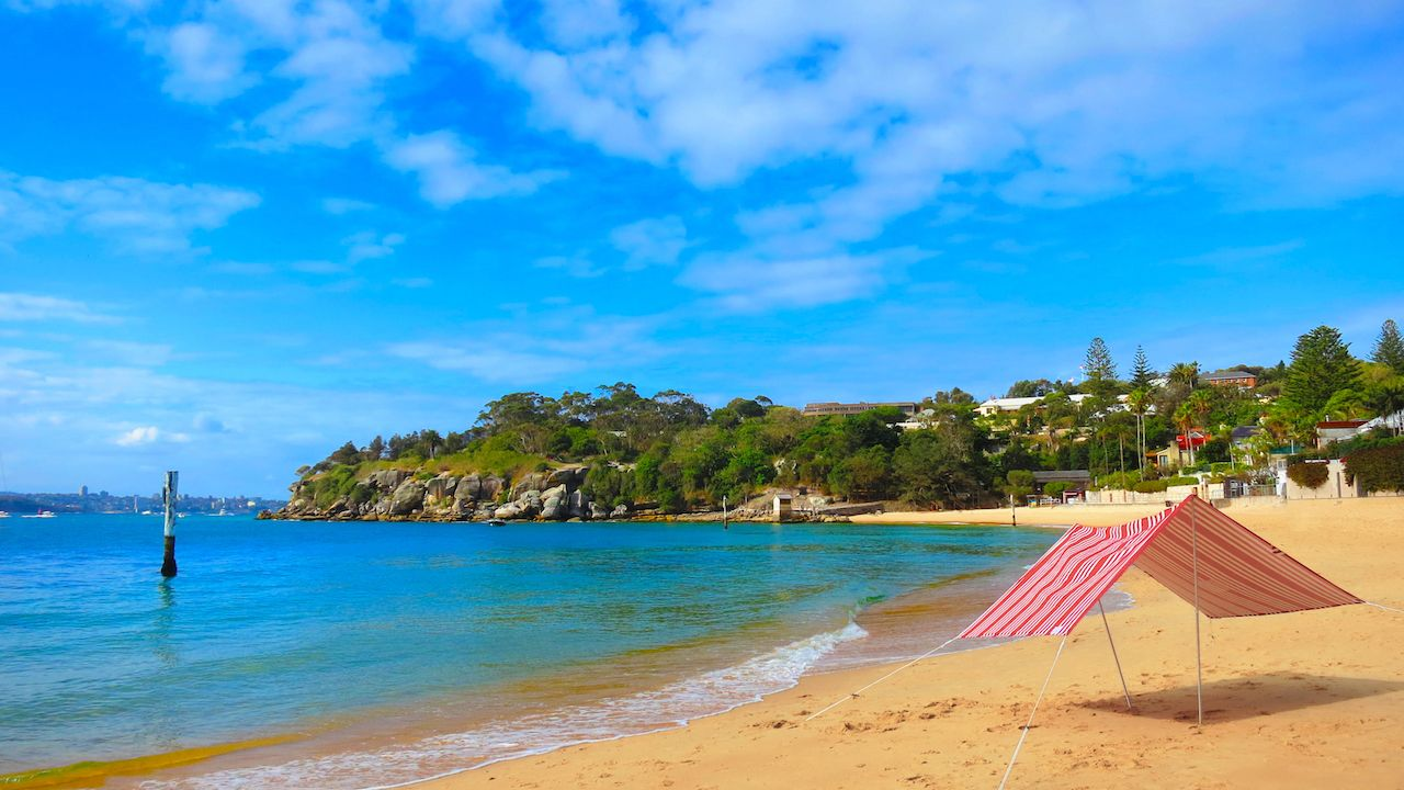 Camp Cove Beach in Watsons Bay on Warm Summers Day in Sydney, New South Wales, Australia