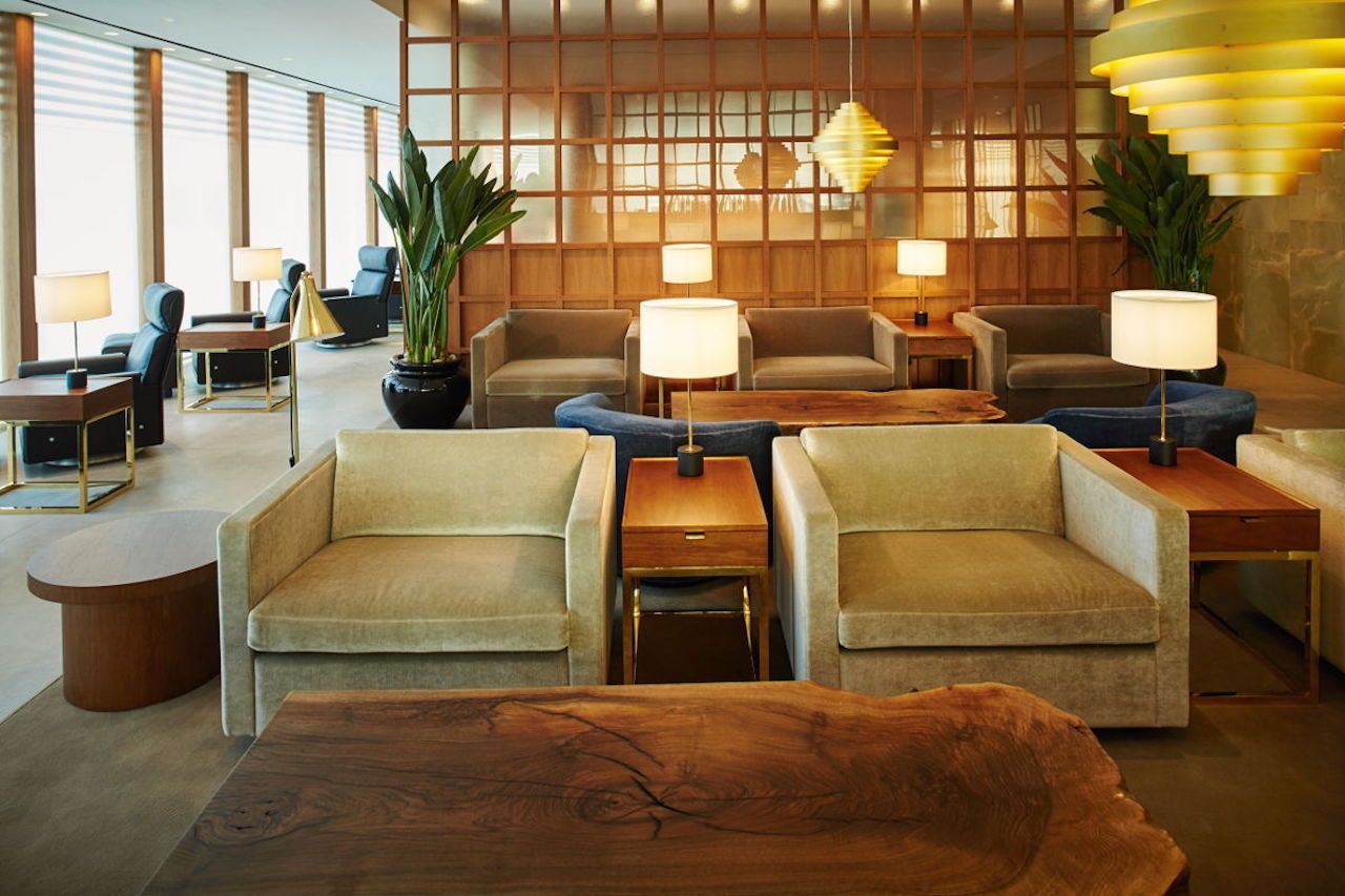 Cathay Pacific lounge in London Heathrow