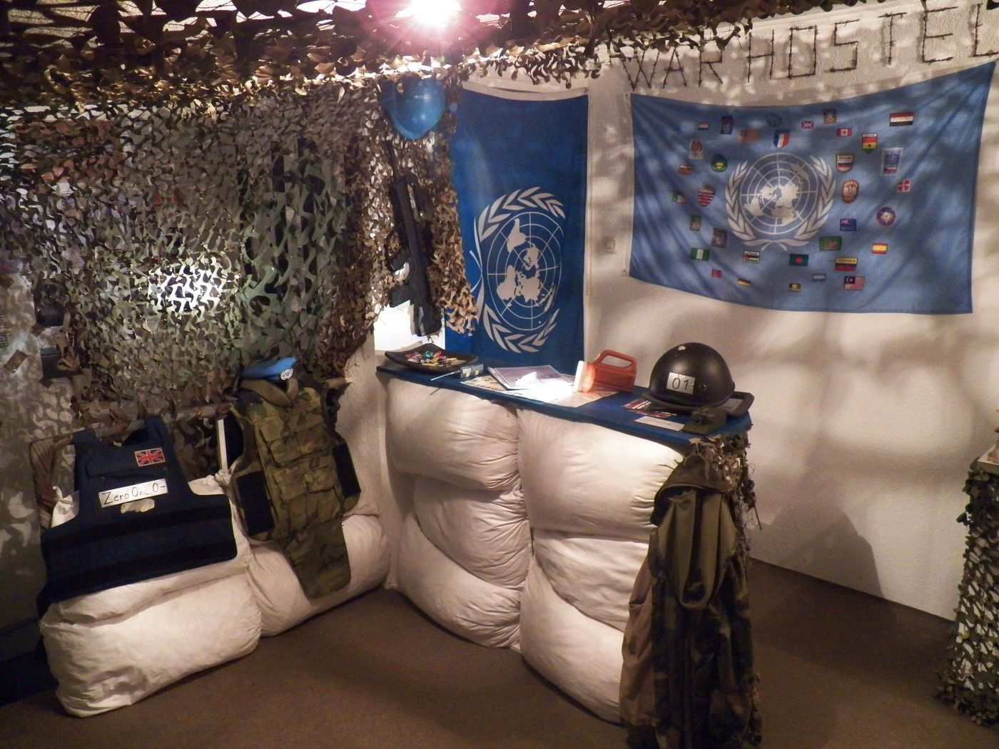 Check in at war zone themed hostel in Sarajevo, Bosnia and Herzegovina
