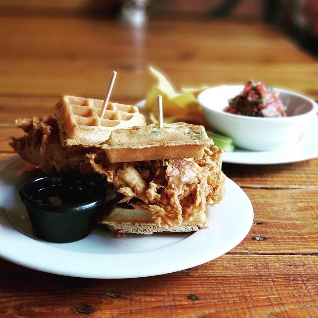 Chicken and waffles from Lokal in Miami