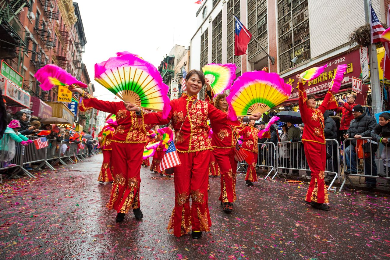 Chinese Lunar New Year Parade in Chinatown New York