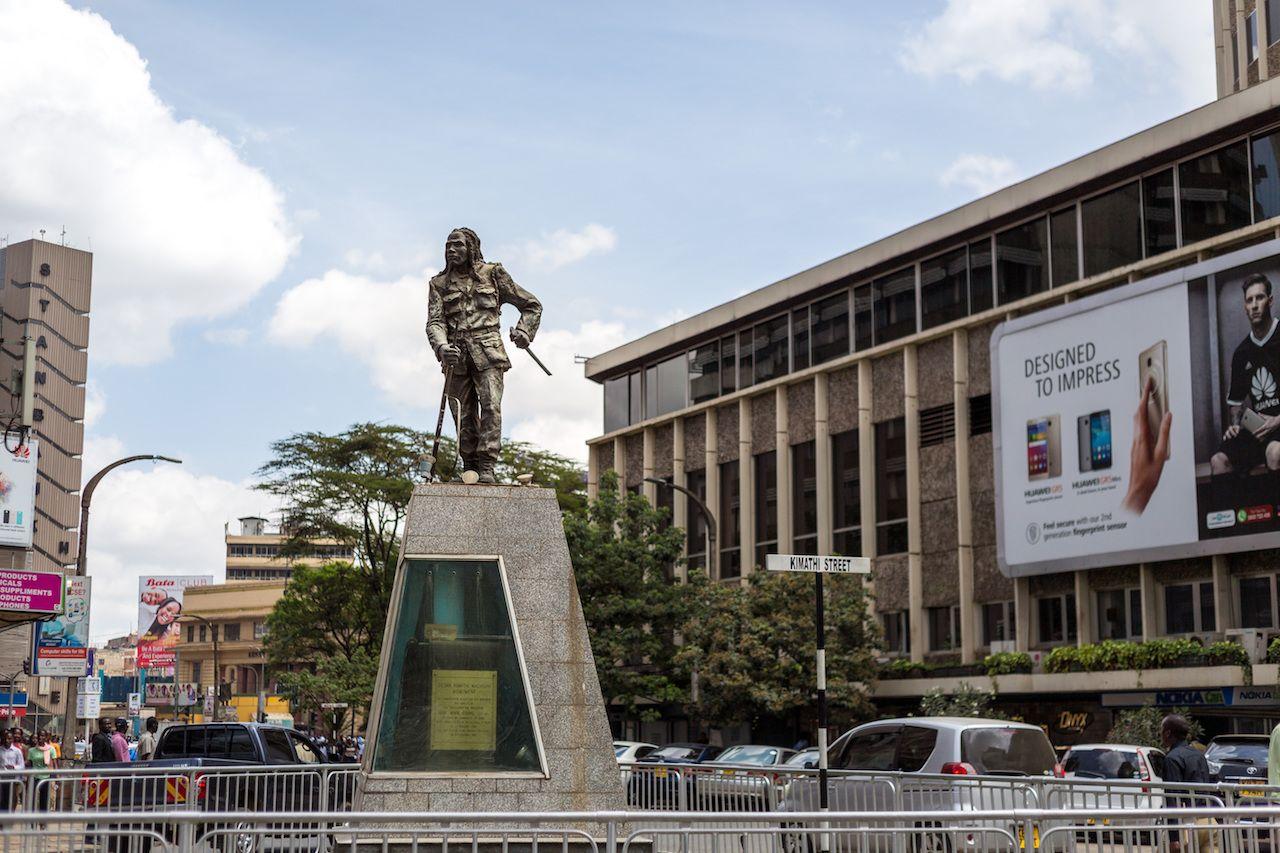 Dedan Kimathi monument in Kenya