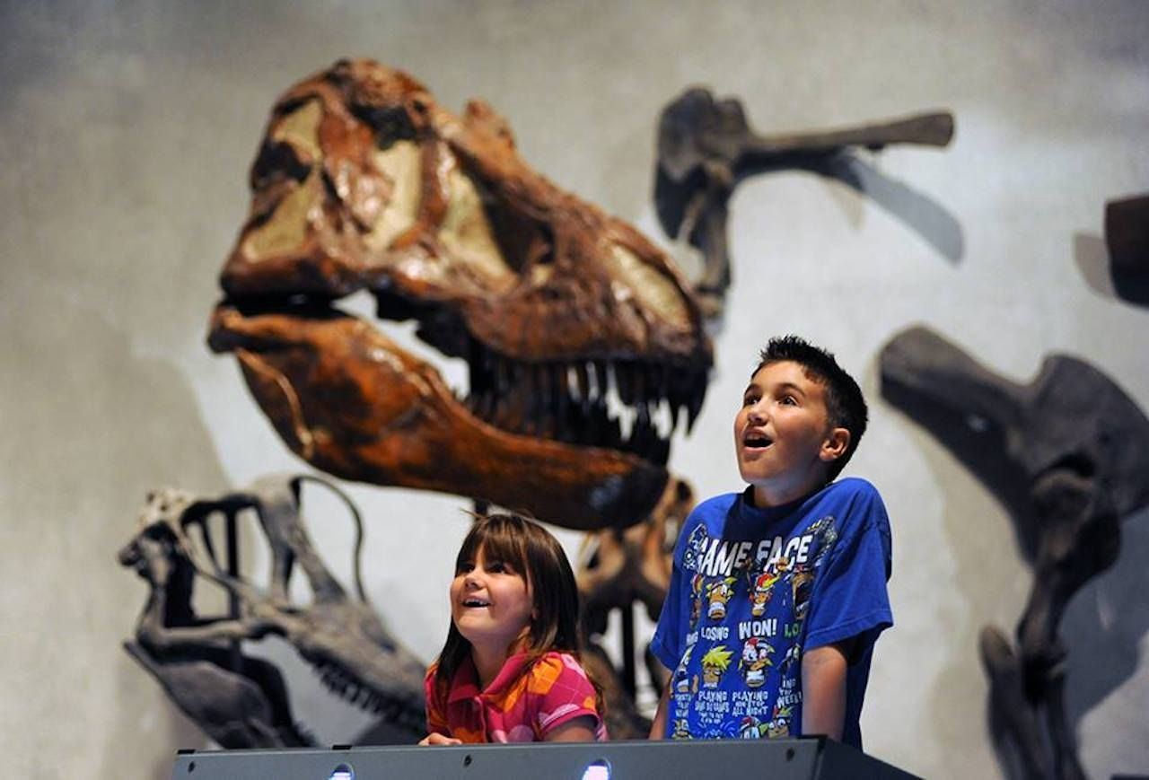 Kids and dinosaurs at the Denver Museum of Nature and Science