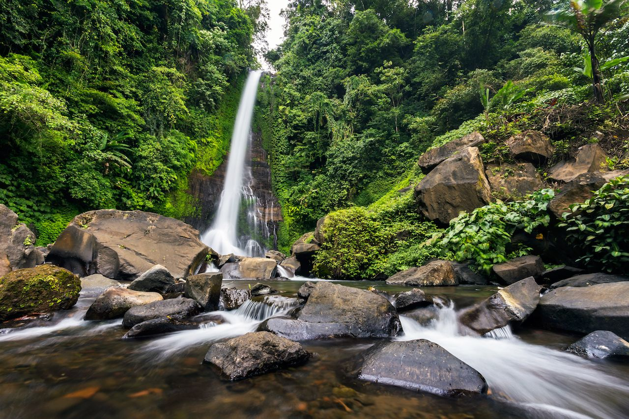 Gitgit waterfall in Bali, Indonesia