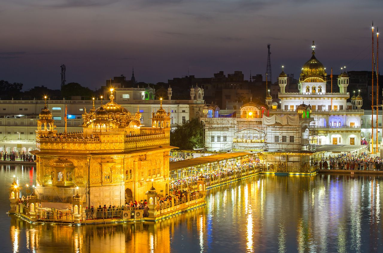 Golden Temple in Amritsar in India