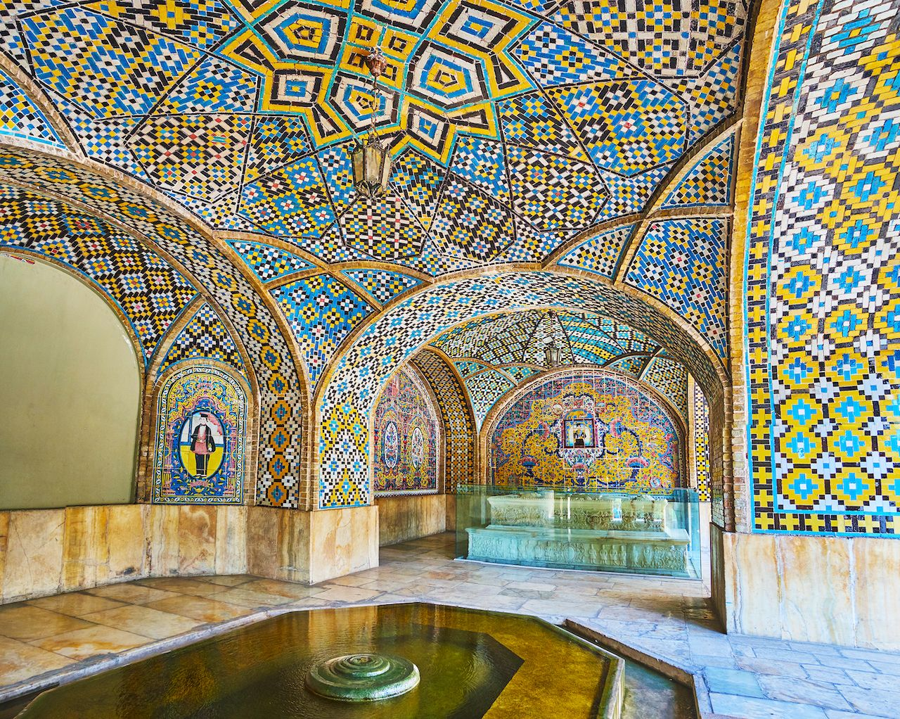 Golestan palace in Iran