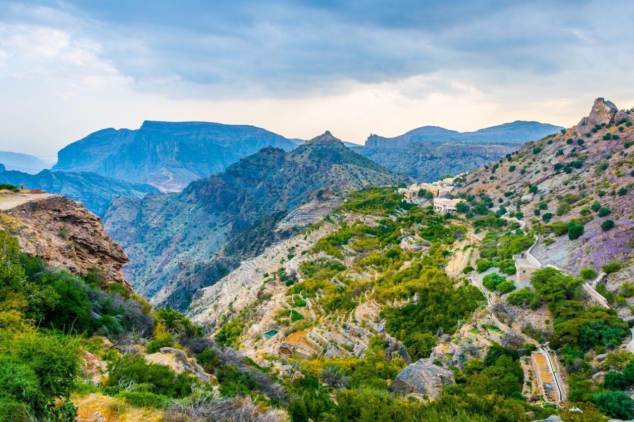 Green Mountain outside Muscat Oman