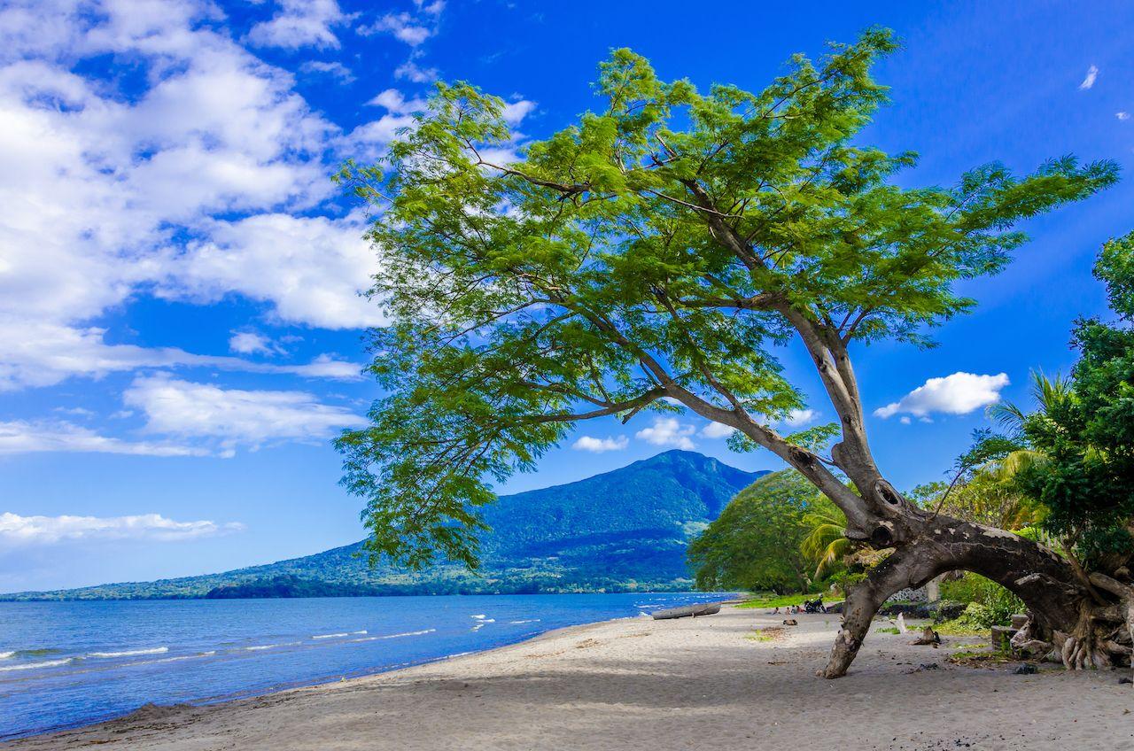 Island Ometepe with volcano in Nicaragua