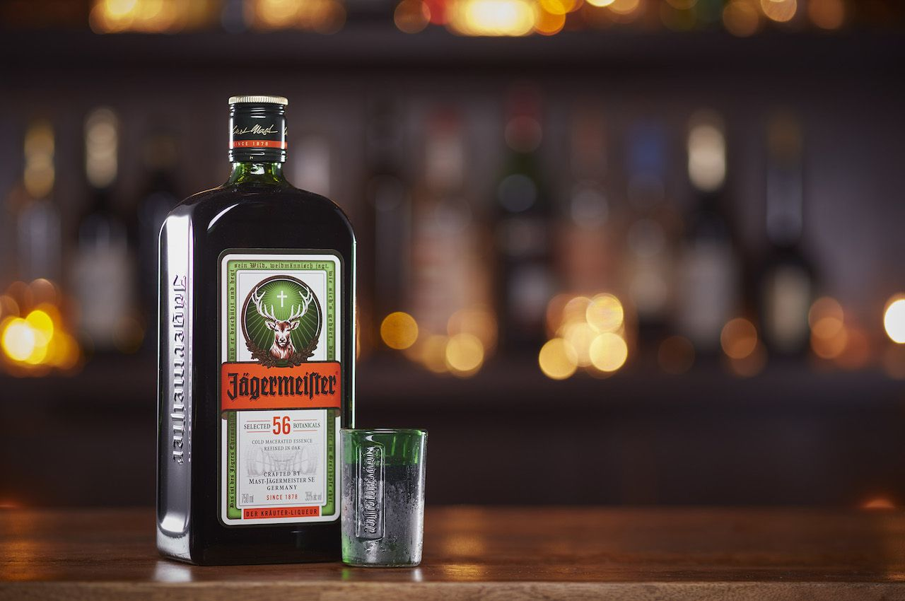 Bottle of Jagermeister on a bar