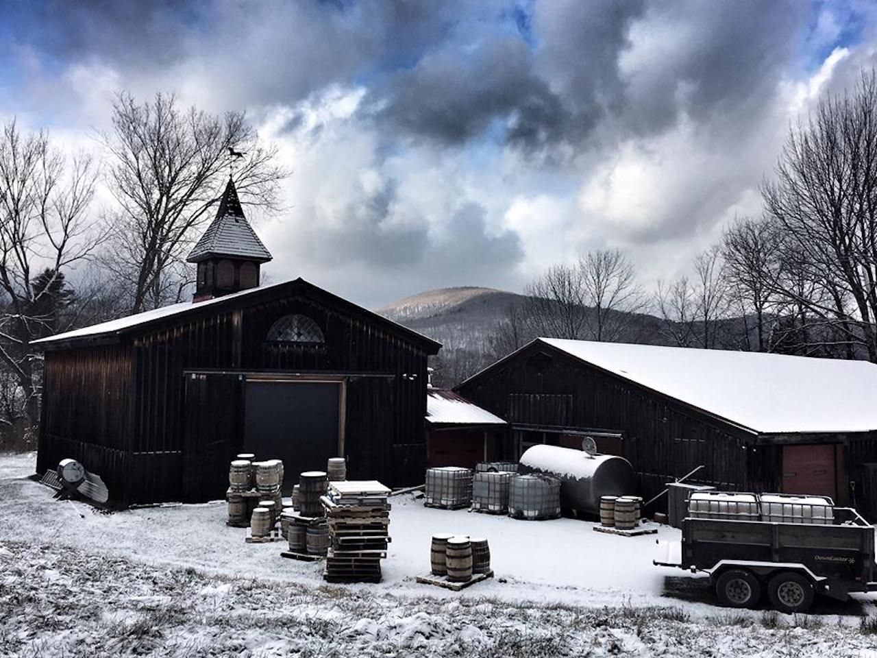 Mad River Distillers in snowy Vermont