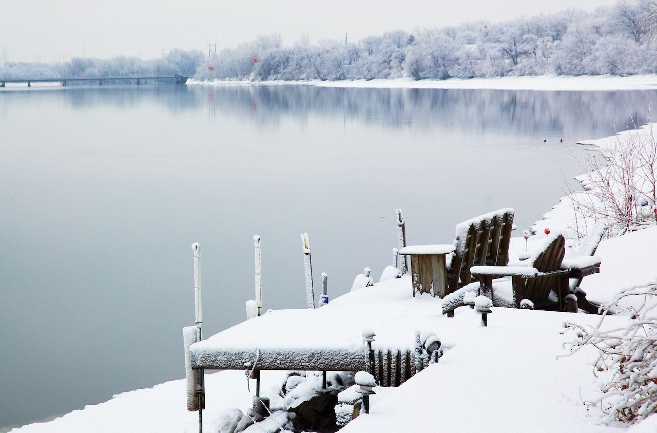 Mineapolis in winter