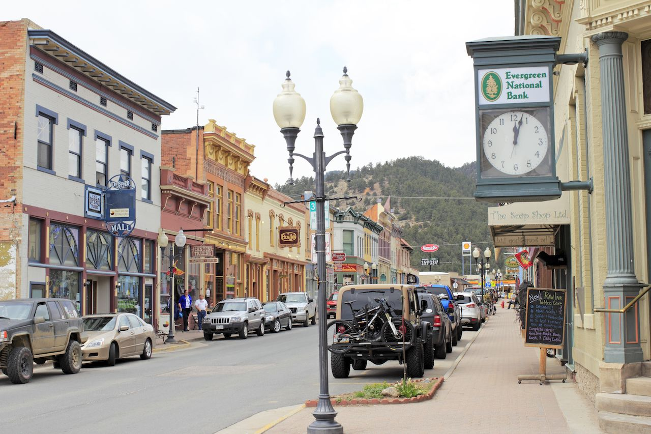 Miner Street in Idaho Springs, Colorado
