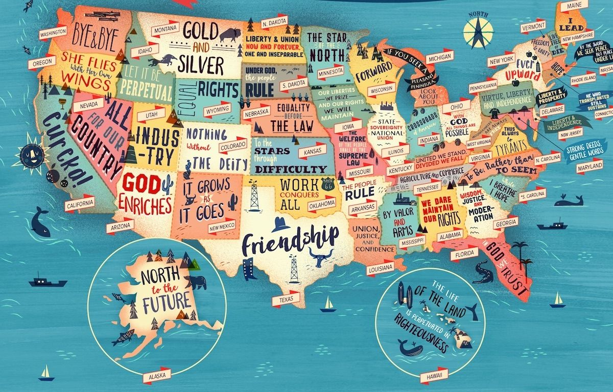 Official Motto Of Every Us State - Show-map-of-us-states