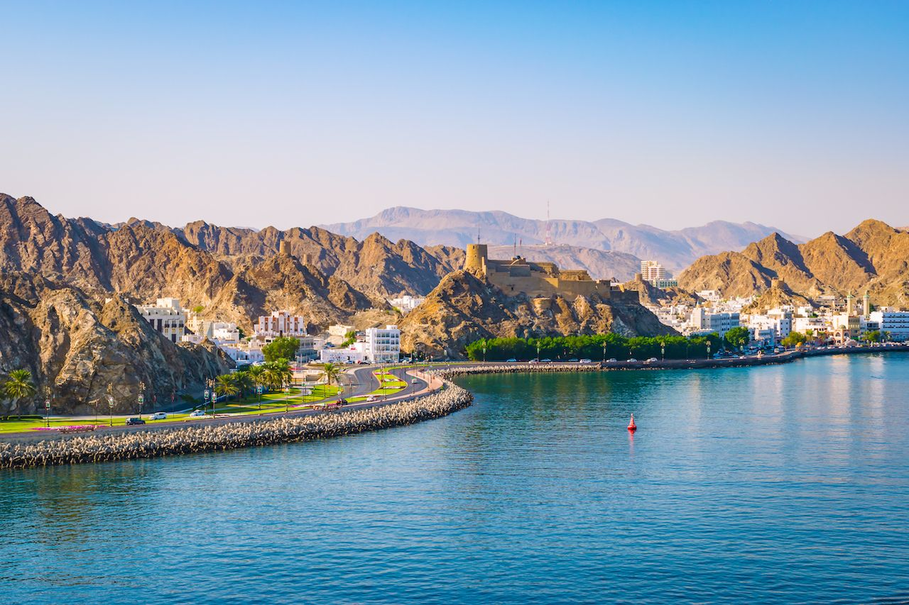 Water and coast in Muscat Oman