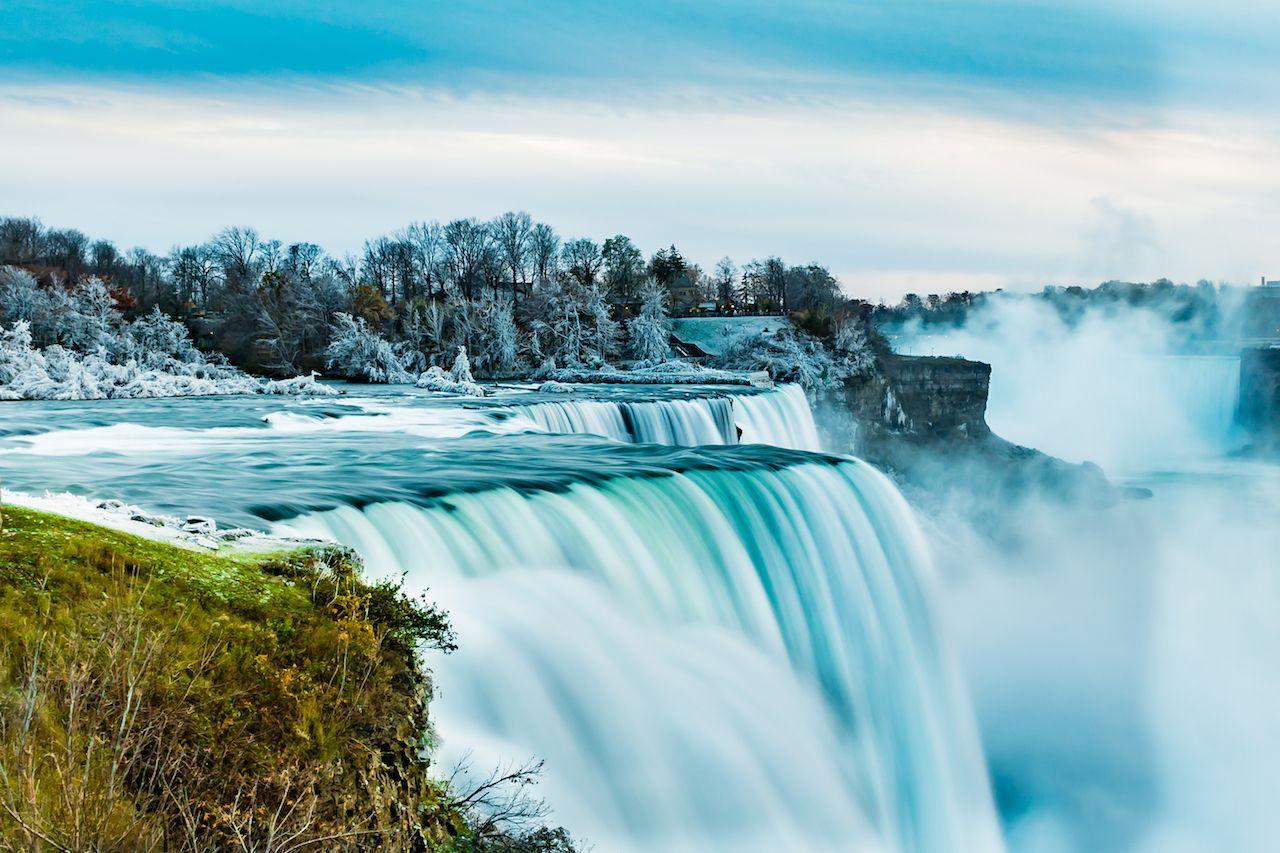 Niagara falls in the winter