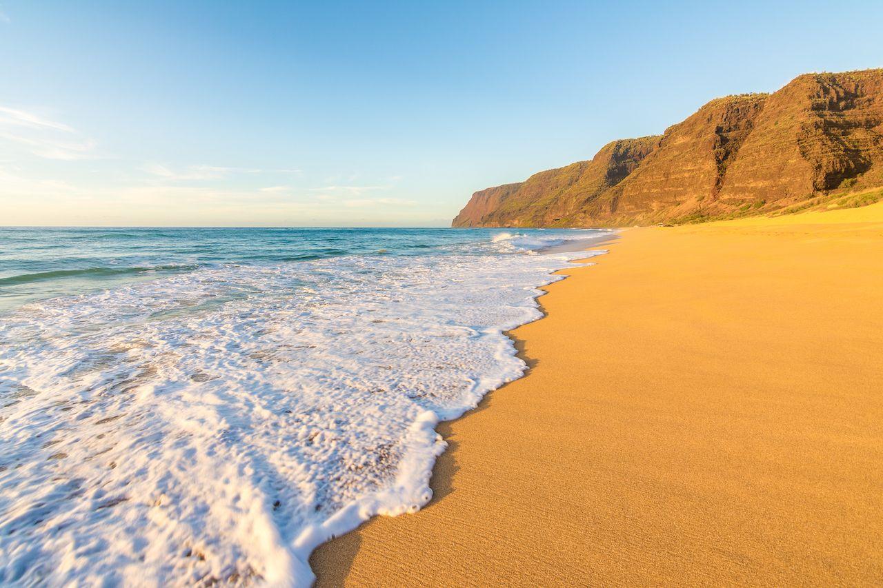 Polihale beach State Park, Kauai island, Hawaii