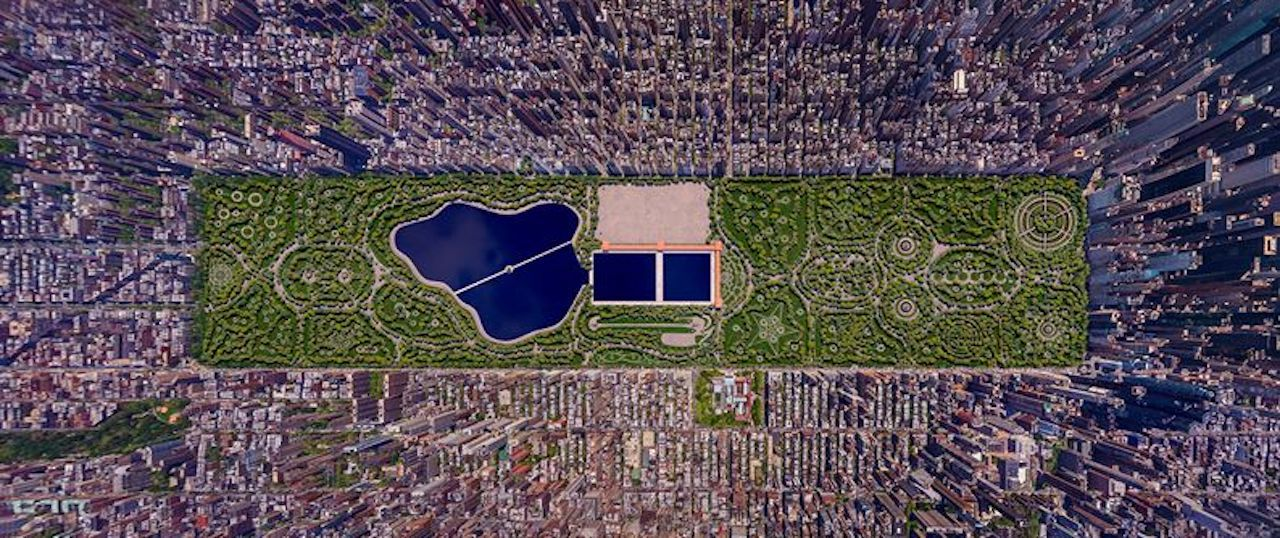 Rendering of John J. Rink's Central Park submission