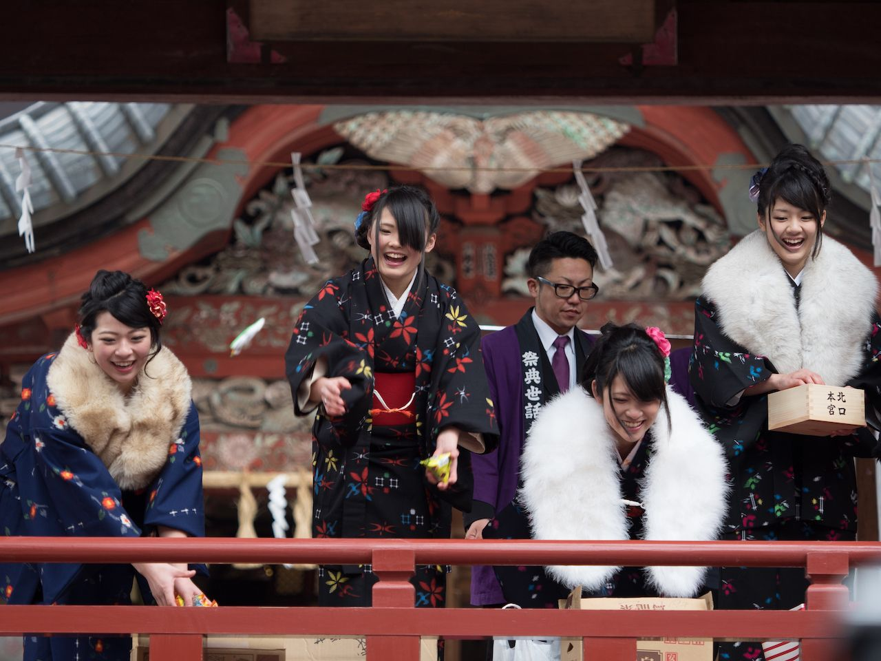 Setsubun Bean Throwing Event in Japan