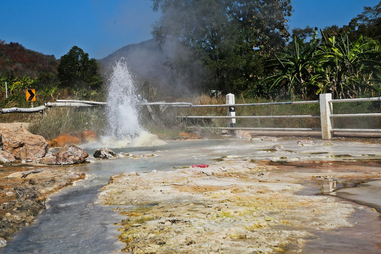 Small geyser in Hot Springs National Park, Arkansas