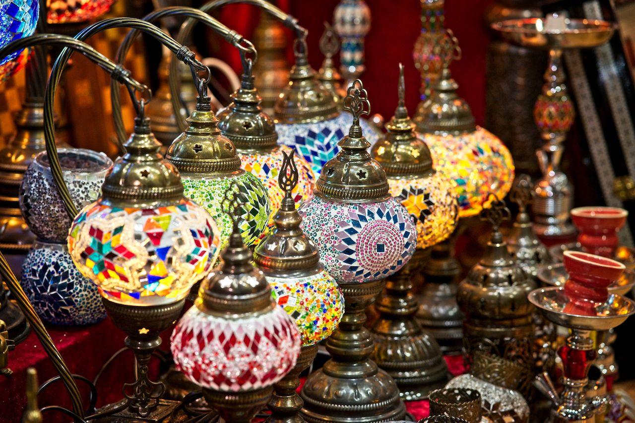 Souq wares in Muscat Oman
