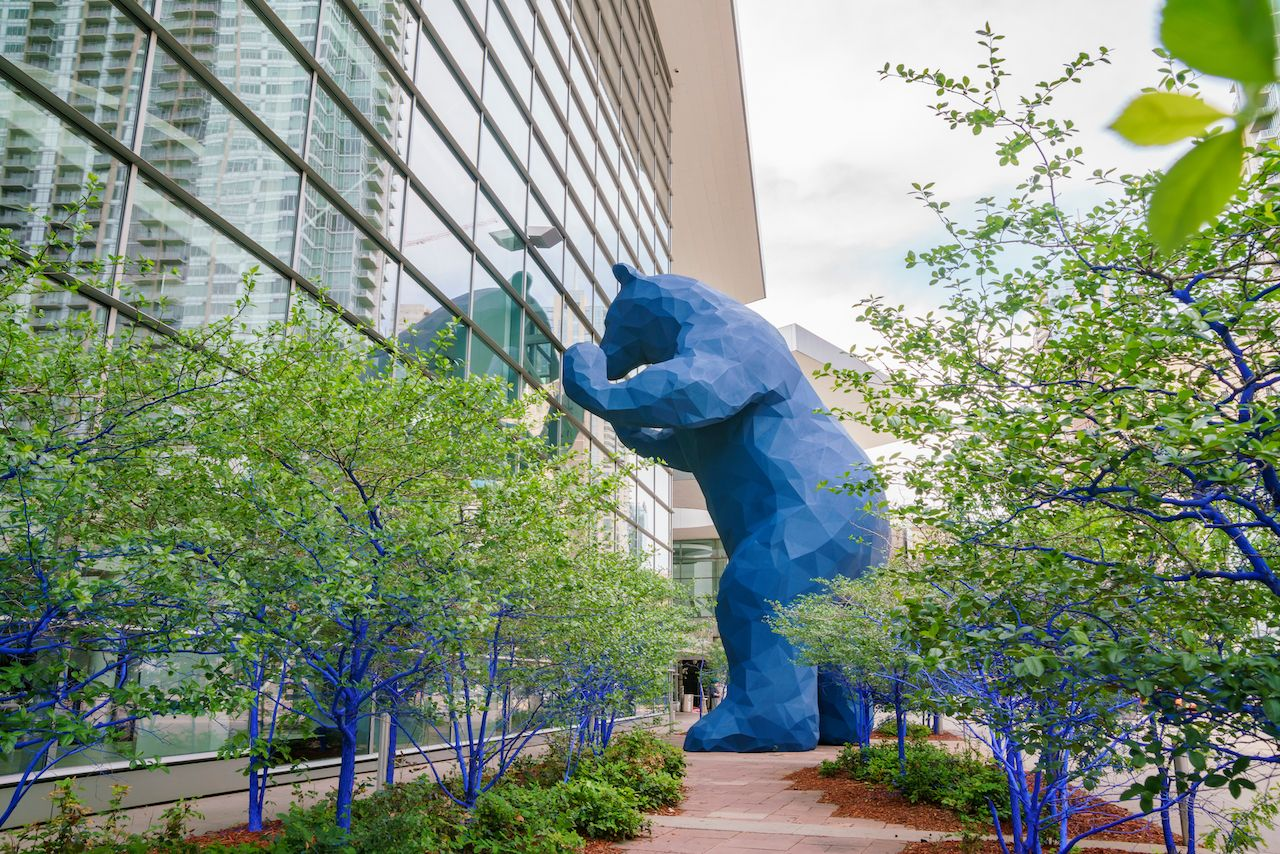Special Big Bear Blue statue in Denver, Colorado