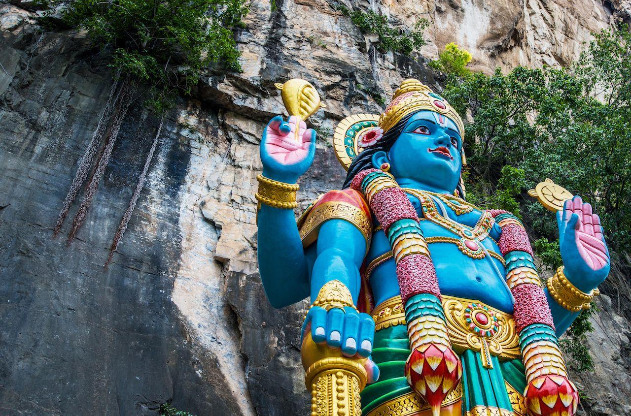 Statue of Lord Rama at Batu Caves in Kuala Lumpur in Malaysia