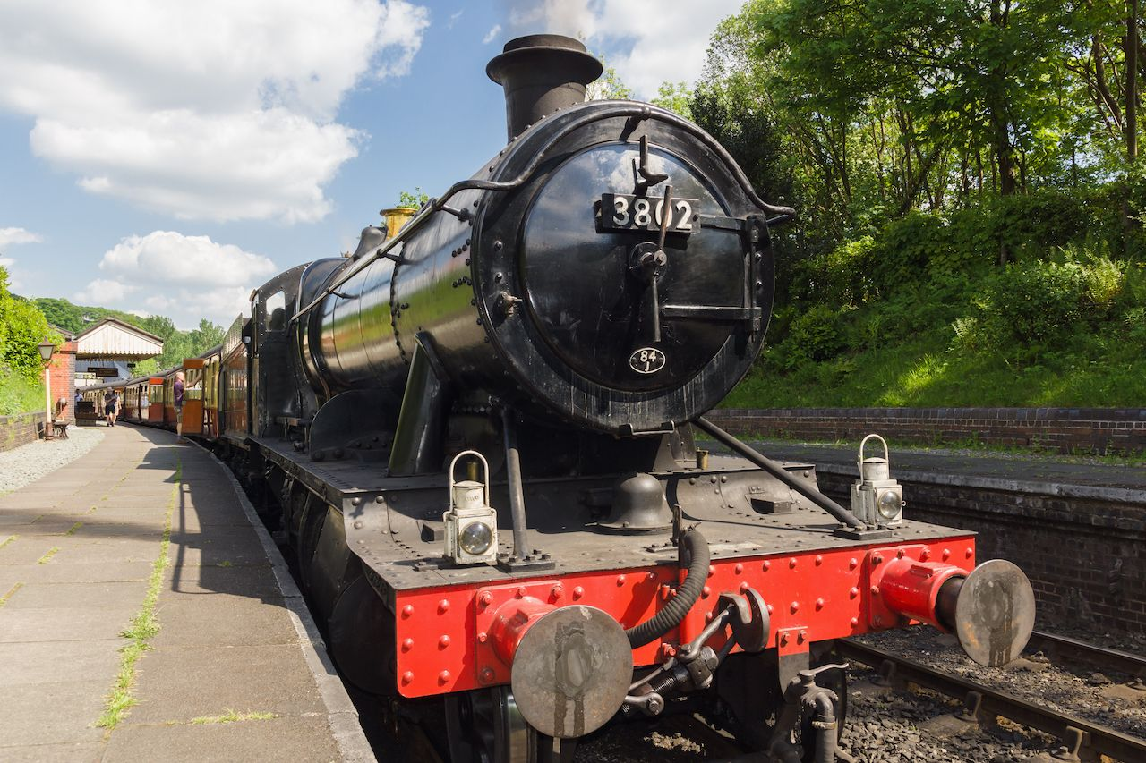 Steam train in Llangollen, Wales