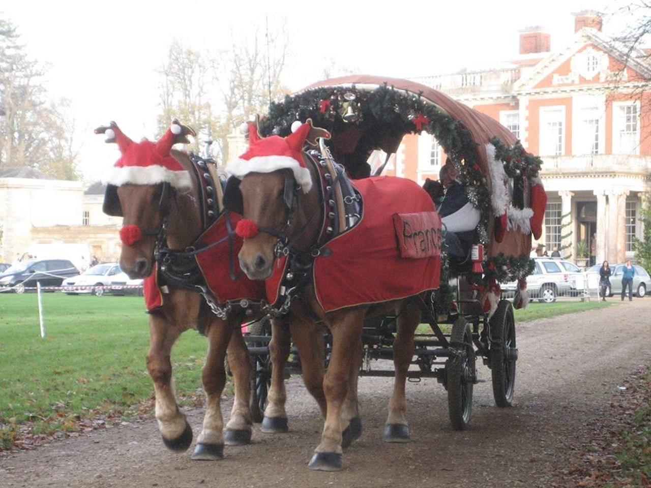 Horse-drawn Christmas carriage for the Stockbridge Christmas festivities