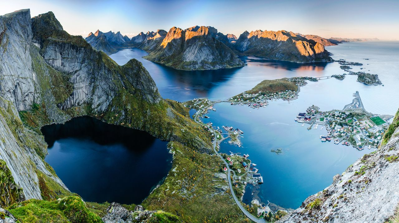 Sunset in the Lofoten islands, Norway