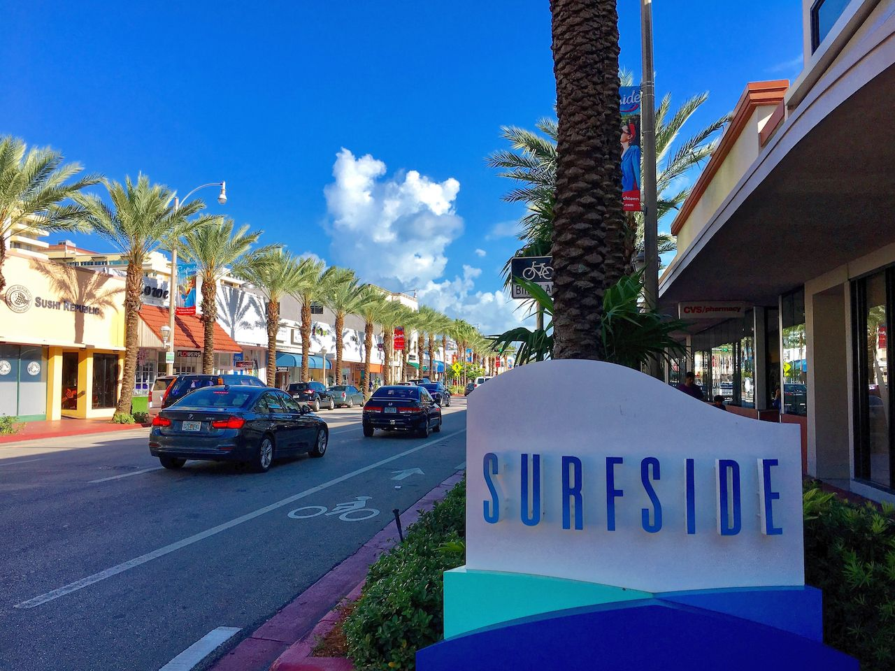 Surfside District in Miami Beach, Florida