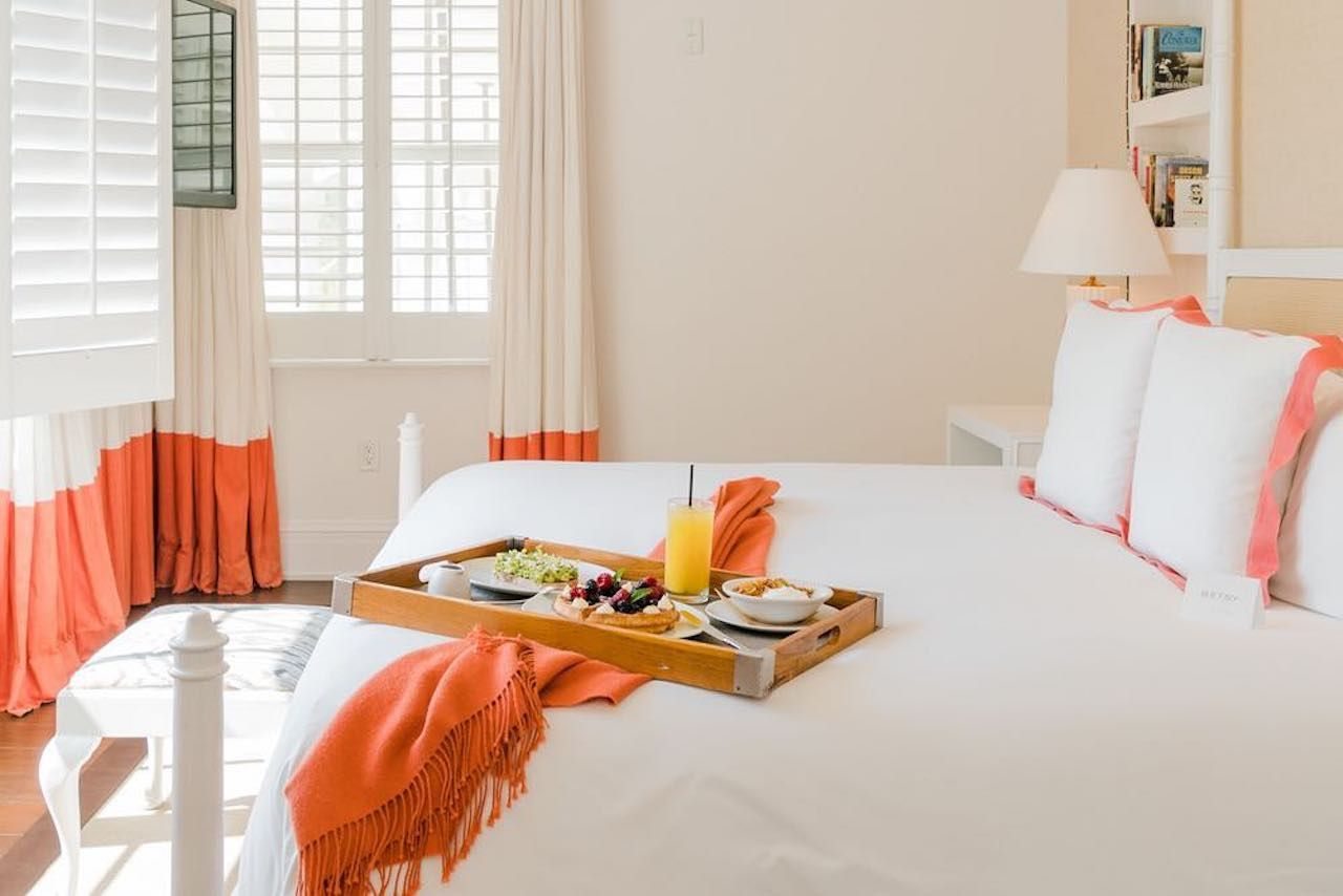 Breakfast in bed at the Betsy Hotel in Miami