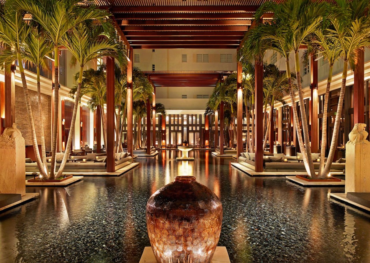 The Setai hotel Miami Beach courtyard