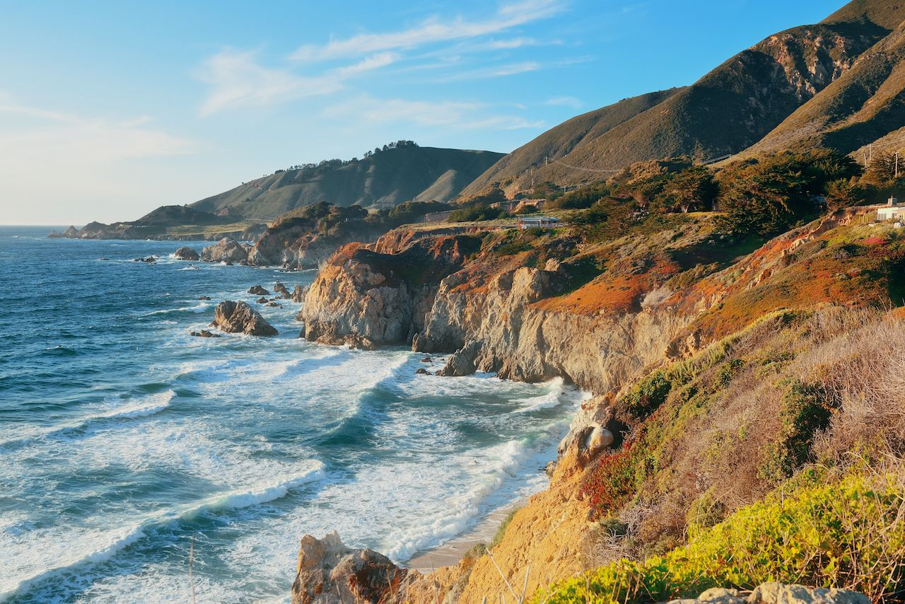 The coast of Big Sur in California
