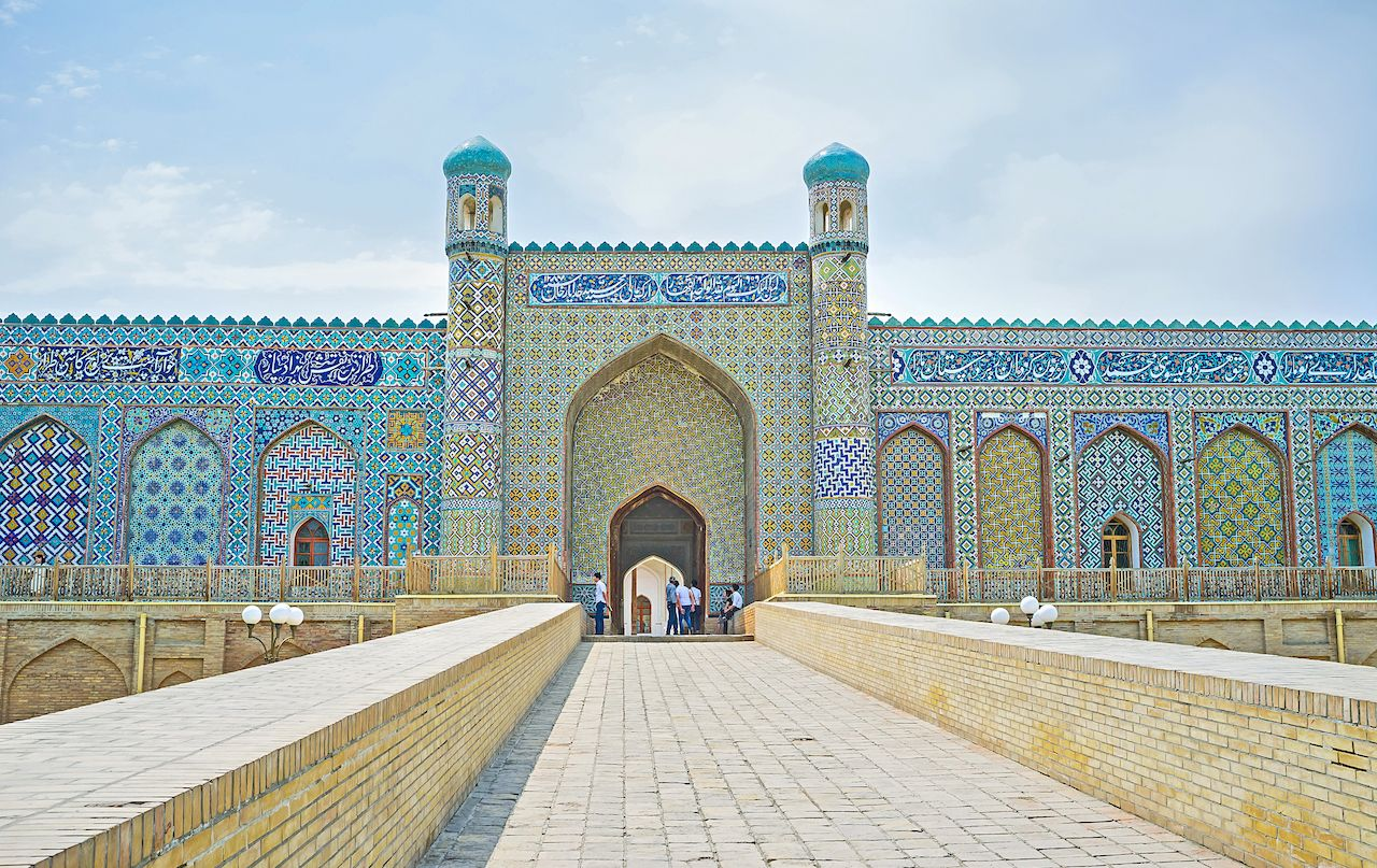 The portal of the Palace of Khudayar Khan