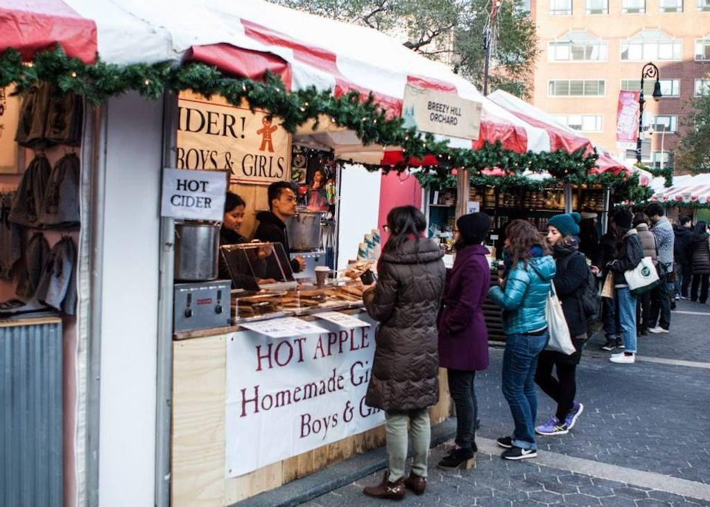 Union Square Holiday Market in NYC