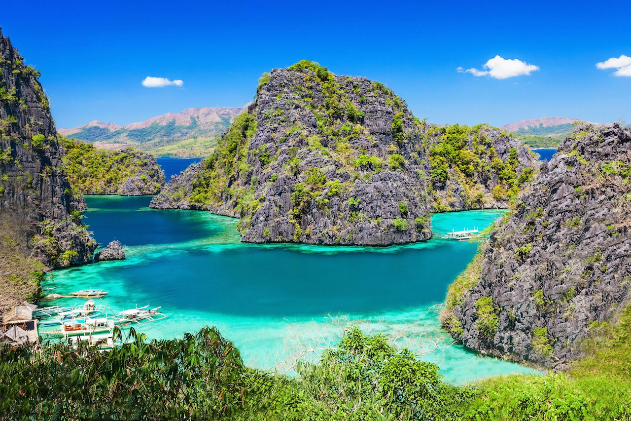 Very beautiful lagoon in the islands, Philippines