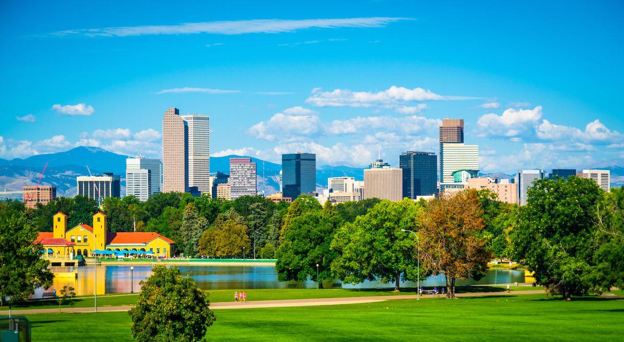 View of Denver, Colorado downtown skyline