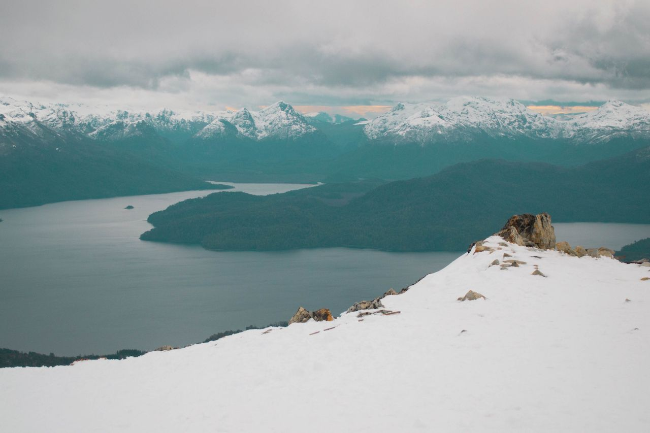 View of the mountains at Cerro Bayo, Patagonia, Argentina