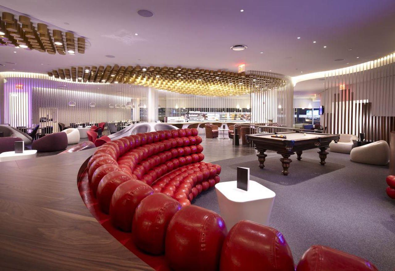 Virgin Atlantic lounge in JFK airport in New York City