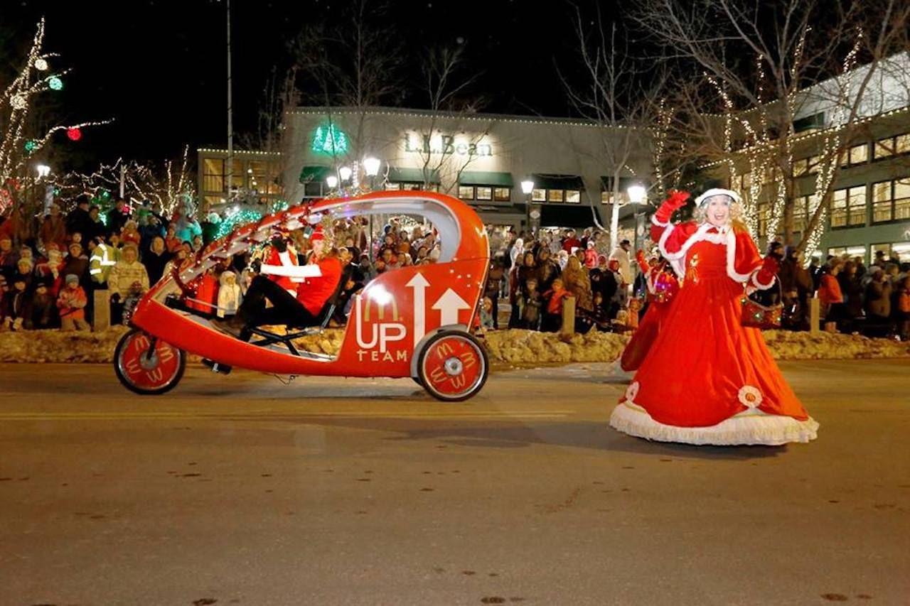 Christmas festivities in Freeport, Maine