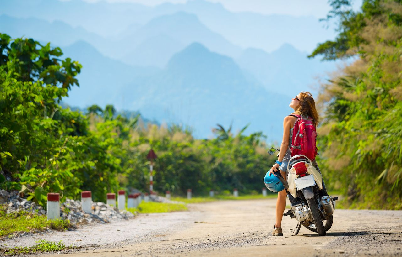 Motorbike routes in Southeast Asia