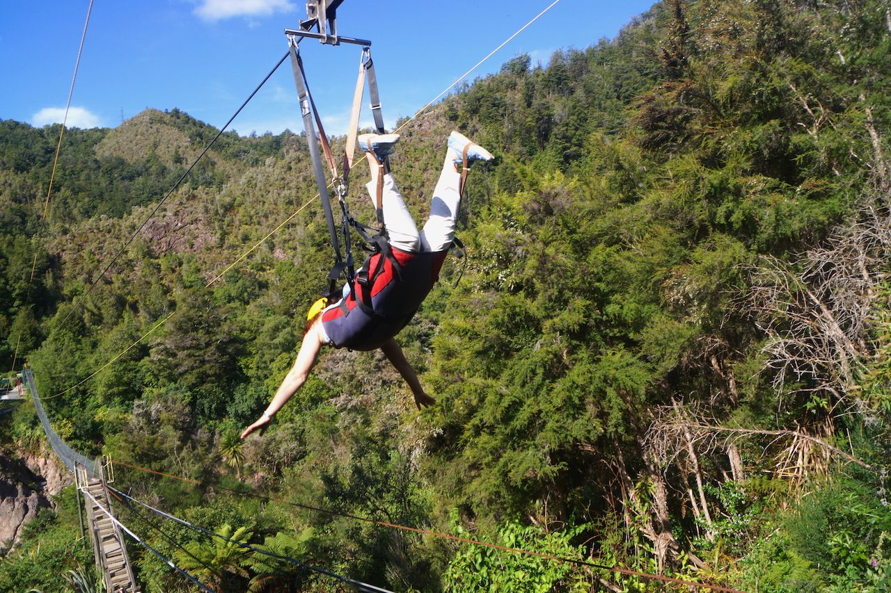 Zip line in New Zealand