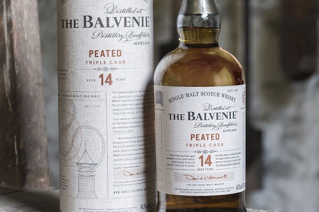 balvenie peated triple cask single malt scotch whisky
