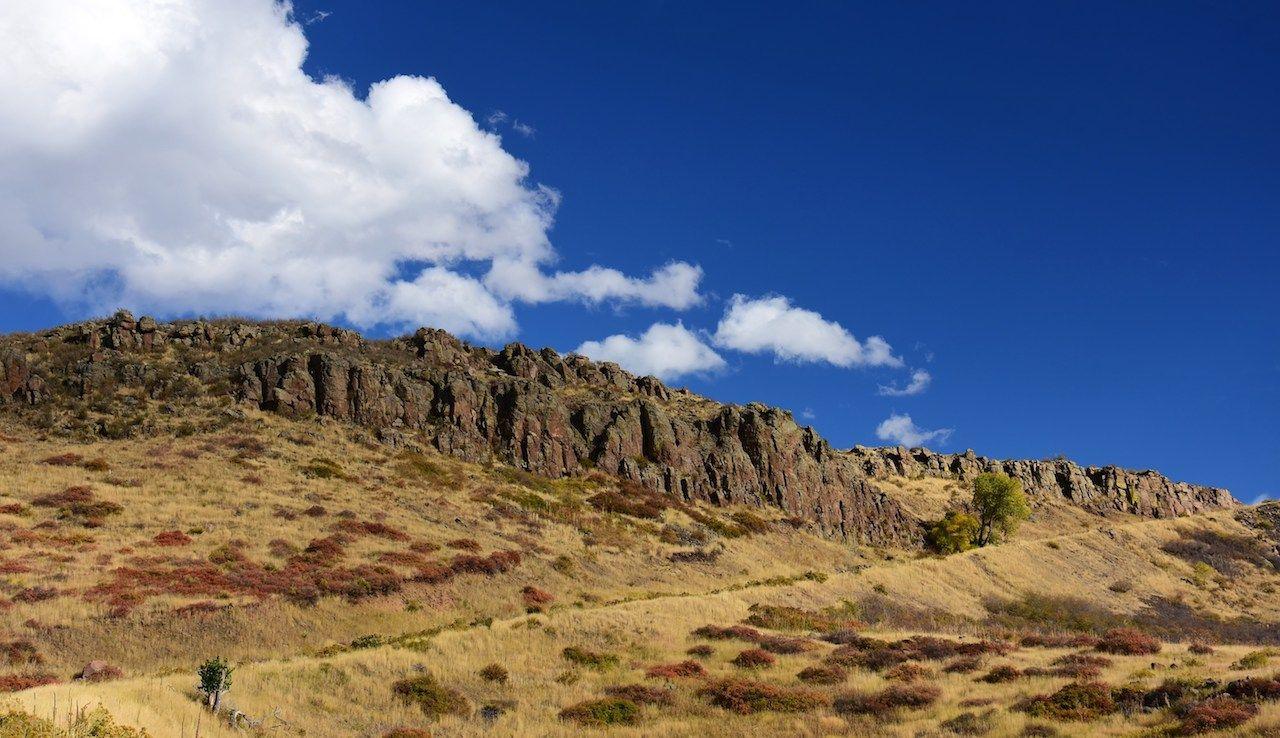 basaltic cliffs along the north mountain table in golden, colorado