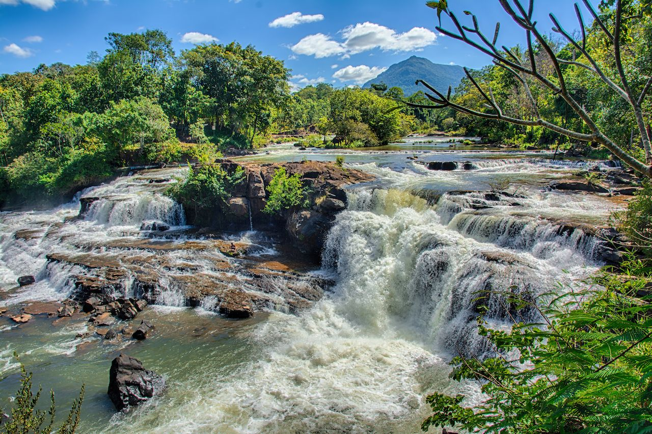 beautiful waterfall in Tad Lo in Bolaven Plateau, Laos