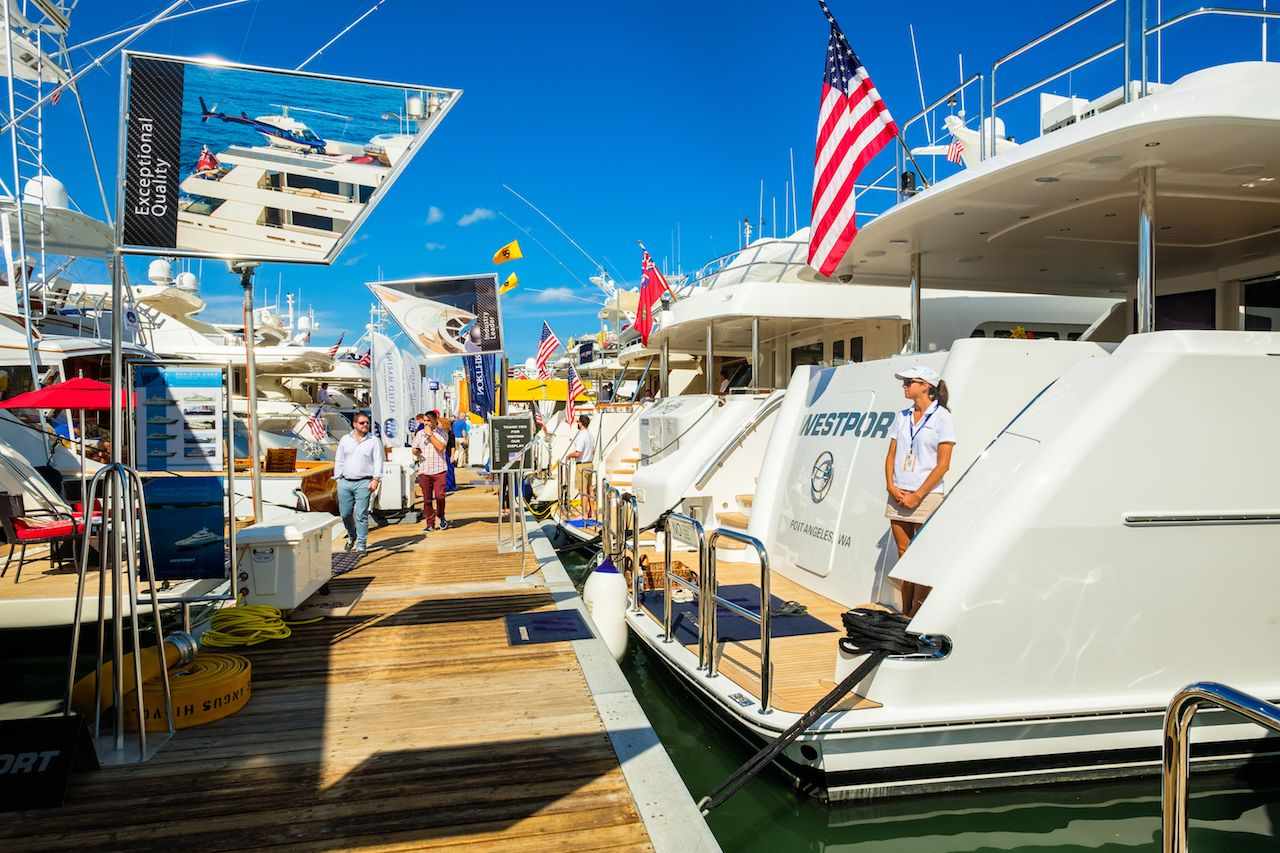 boats docked in a Miami harbor