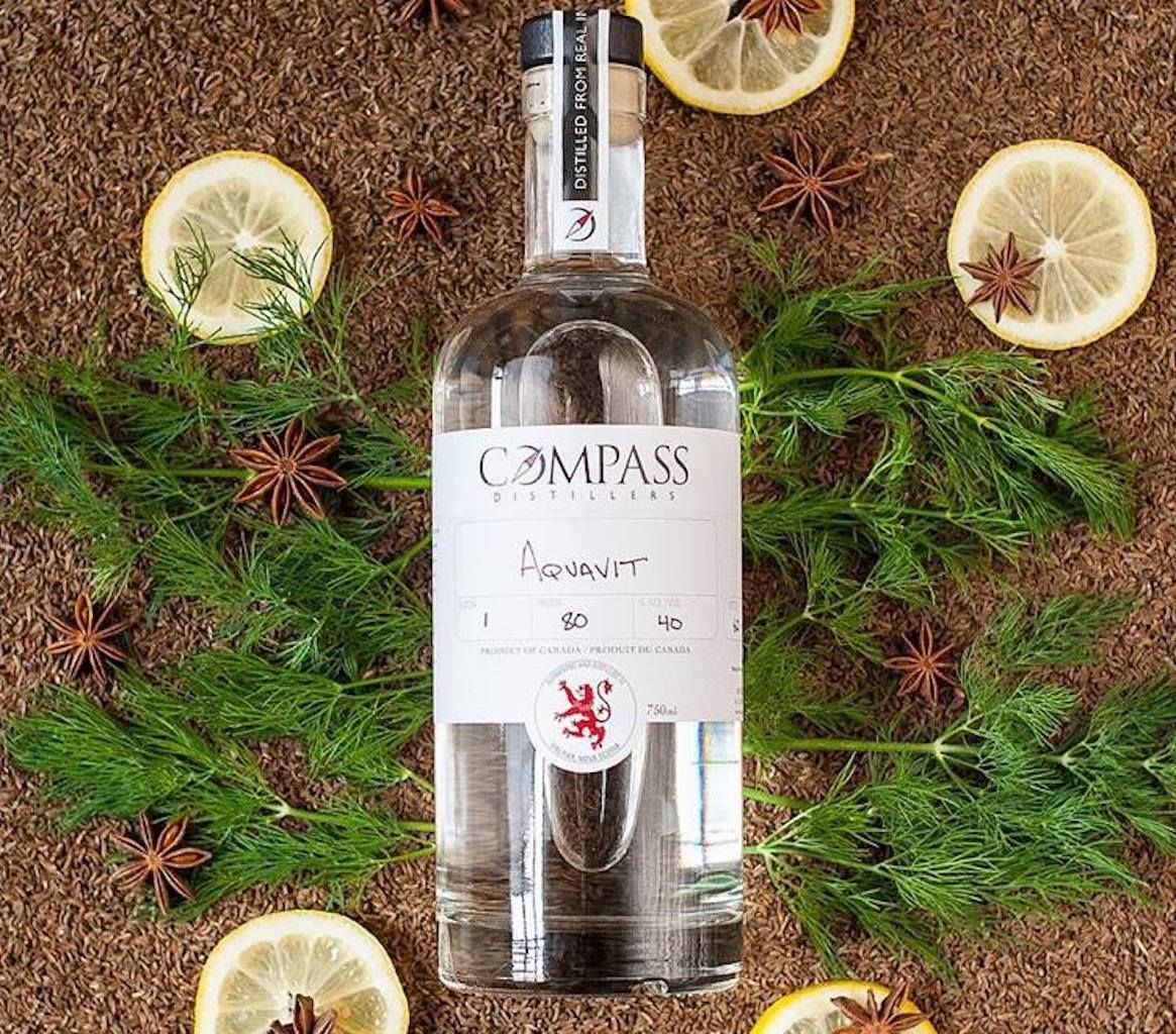 bottle of compass distillers aquavit